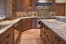 oak mission kitchen
