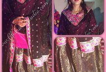 Black & Pink Gharara / Black & Pink Gharara