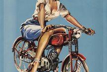 Reklamní cedule moto - Advertising banner for moto