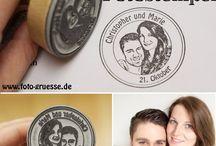 Fotostempel, personalisierte Stempel, Portraitstempel, Hochzeitsstempel / Ihr wollt auch so einen personalisierten Stempel nach Eurer Fotovorlage?   Dann besucht meinen Online-Shop: https://fotogruesse.patternbyetsy.com