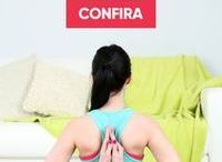 Yoga para dos nas costas