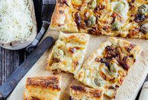 Pizzas, empanadas y pasteles salados