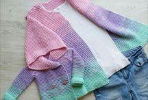 Пуловеры детские платочной вязкой