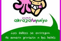 Abrazatupulpo / Tejemos pulpos de ganchillo para la mejora de los bebés prematuros durante su ingreso hospitalario.