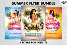 FLYER BUNDLES / This is some Psd flyer bundles for all kind of party and event. This is some Psd flyer templates for all kind of party and event.  Flyer templates ranging from club flyers, music festival flyers, minimal flyers, artist flyers, deejay flyers, party flyers etc.  You can modify everything, it's very easy and quick. Changing the color style, picture, typo is no problem. It is well-assorted in folders and layers.