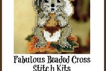 Beaded Cross Stitch Kits | A Cross Stitch In Time / Beads add another dimension to your cross stitch projects. These Beaded Cross Stitch Kits make it easy to add glimmer and shine with beads