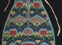 18th century flame stitch accessories