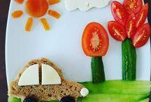 sevimli kahvaltı tabağı