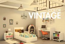 VINTAGE KIDS ROOM / Habitaciones de bebé de diseño, cunas convertibles, muebles juveniles, etc.. ¡Todo en estilo vintage!  See our favorite vintage baby furniture