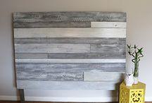 Headboard wood