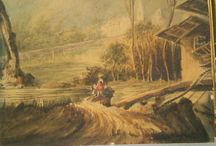 Sir J.ACKLAND XIX XXe VAUCLUSE ?? aquarelle carton original watercolor 18X14cms