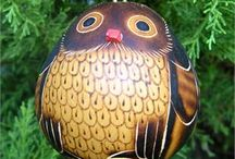 Christmas Ornaments / Hand Carved and Hand Painted Christmas Ornaments from around the world