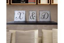 Ξύλινα γράμματα, μονογράμματα , απευθείας εκτύπωση σε φυσικό ξύλο