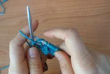 Scuola di Maglia ai ferri / Tutorial per la realizzazione dei punti base della maglia ai ferri