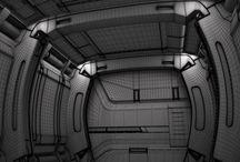 Sci Fi Futuristic Spaceship Corridor 3D Model