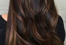 Brunette  and darker haircolor / Dark hair color and style