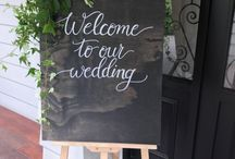 Inkberry Calligraphy Wedding Signage