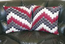 Bargello cushions
