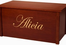 Wooden Toy Boxes / These handcrafted personalized toy boxes are all wood and are built with quality.