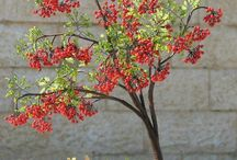 wzór  na drzewko z czerwonych korali