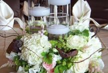 Candle Holder Centerpieces / Centerpieces featuring candles
