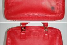 Versace Handbags Repaired and Restored / Photos of stained, damaged, torn, dirty and worn out Versace handbags and purses that we have lovingly cleaned and restored.
