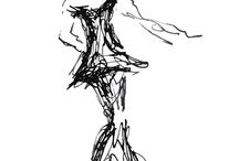 Fashion Illustrations / Be Fabulous - fashion through my eyes translated to paper and pen in a playful chic way. My style is cool with a touch of glamor if I can but I don't wear dresses or high heels so I guess my drawings let me be and feel glamorous.