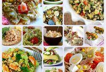 Ensaladas deliciosas. / Deliciosas ensaladas. Imágenes relacionadas, de sal, de dulce, de frutas, verduras.