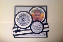 Baby kaarten gemaakt door Ella van Gils / Baby kaarten gemaakt door Ella van Gils