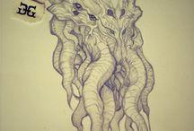 Cthulhu / My drawings