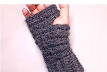 Vingerloze handschoenen en manchet armbanden