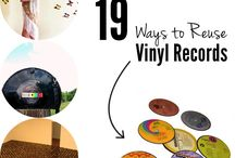 Vinyl records repurposed