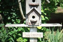 Birdhouses and Bug hotels / Ideas for quirky bird houses and bug hotels