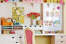 Creative and Crafty Spaces / Ideas and inspiration for creating a craft or studio space. / by Rebecca | Pictures to Scrapbook