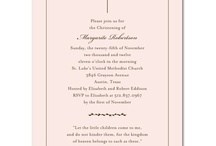 kids - christening invitations inspiration / the best of christening invitations & stationery inspirations  / by r3mg:: creative boutique