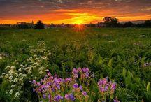 Piękne widoki o zachodzie słońca.