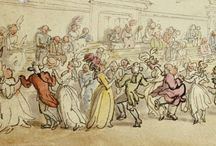 """Colonial Dancing / English Country Dancing, as we call it in America, has its roots in Folk Dancing in England.  These centuries old social dances typically form with a """"longways"""" set in which men and women create two lines facing each other.  The country dance allows participants to interact with other dancers in a series of figures that are repeated up and down the set.  Dancing to beautiful music while repeating patterns is great fun."""