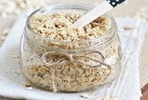 Homemade Coconut Oatmeal Scrub. You must see her blog as she has some of the greatest ideas that are totally doable for the clutzy or un-DIYer. YOU CAN DO IT!!!