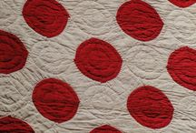 MONO + DUO COLOUR QUILTS / Quilts using one colour, red and whites, blue and whites etc