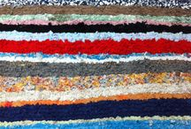 Carpet of Life / The concept of Carpet of Life is based on traditional Moroccan carpets called Boucherouite or Boucherwi. The carpets by Hilde Roothart are made from her own worn clothes and those of her son, mother and husband. More on nl.carpetoflife.com.