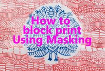 Block printing using masking / have a look at our masking ideas have a go yourself with your Colouricious wooden printing blocks to see what you can create! www.colouricious.com