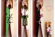 manualidades pinzas madera