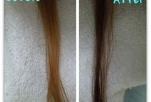 Farge håret brunt