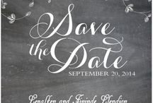 save the date card at happyinvitation.com