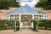 The Glasshouse and Pavilion / Our amazing glasshouse is the perfect setting for an intimate and special ceremony.