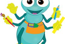 Rivet (Workshop of Wonders Puppet) / Meet Rivet - the industrious hard-working blue ant that always has great ideas! Rivet is also wearing an orange 'thinking cap!' / by Cokesbury VBS