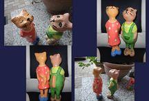 котики-кошечки - ручная работа / paper mache, папье-маше, вязание, шитье,валяние