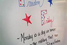 Daily classroom themes Friday