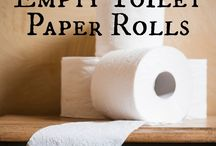 Crafting with toiletpaper rolls