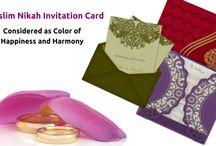 MUSLIM WEDDING INVITATION CARDS / Muslim Wedding Cards : Represent The Lavishness Of The Rich Muslim Ceremonies